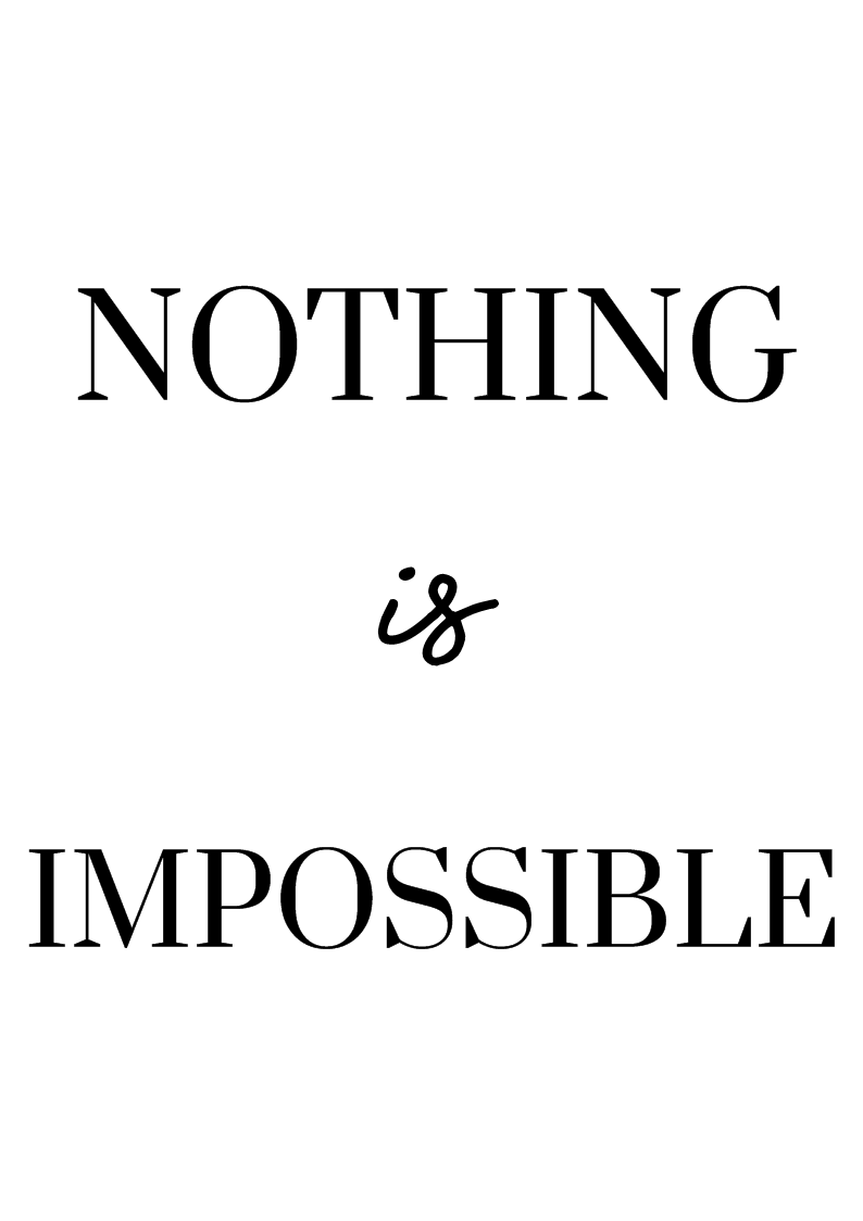 nothnig-is-impossible